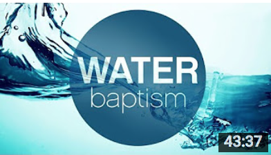 The Mystery of Water Baptism